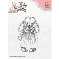 Nellie's Choice Clearstamp - Baby Cuddles Cuddly girl CSBC002 (08-16)