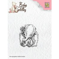 Nellie's Choice Clearstamp - Baby Cuddles Baby elephant CSBC003 (08-16)