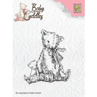 Nellie's Choice Clearstamp - Baby Cuddles Teddybears CSBC004 (08-16)