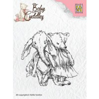 Nellie's Choice Clearstamp - Baby Cuddles Cuddly friends CSBC005 (08-16)