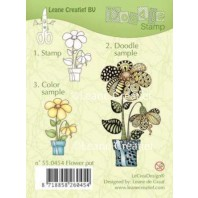 Doodle clear stamp Flower pot 550454