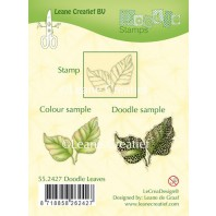 LeCrea - Doodle clear stamp Leaves 55.2427 (08-16)