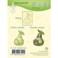 LeCrea - Doodle clear stamp Pear 55.2441 (08-16)