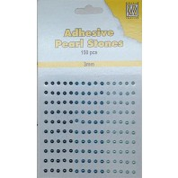Nellie`s Choice Plakparels / Adhesive gems aqua 3 mm APS303