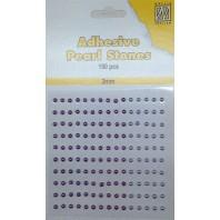 Plakparels / Adhesive gems paars lila 3 mm APS306