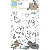Marianne D Stempel Hetty's spelende zeehonden HT1621 10,5x18,5cm (06-17)