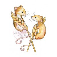 Wild Rose Studio's A7 stamp set Harvest Mice CL493
