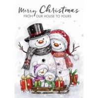 Wild Rose Studio's A7 stamp set Snowman Family CL496 (08-16)