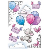 Wild Rose Studio's A5 stamp set Bella AS001 (11-16)