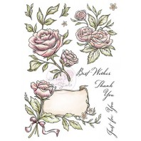 Wild Rose Studio's A5 stamp set Antique Roses AS004 (11-16)