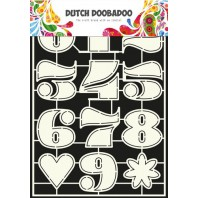 Dutch Doobadoo Dutch Stencil Art Nummers 2  A4 470.455.006