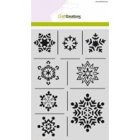 CraftEmotions Mask stencil - ijskristallen A5 Christmas Nature (07-16)