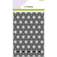 CraftEmotions Mask stencil - triangle flower A5 Botanical Nature (04-17)