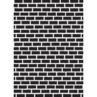 Nellies Choice Plastic Mixed media stencil A5 - brick wall NMMS006 (08-16)