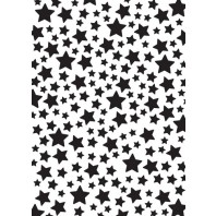 Nellies Choice Plastic Mixed media stencil A5 - stars NMMS008 (08-16)