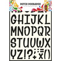 Dutch Doobadoo Dutch Stencil Art Alphabet 5  A4 470.990.005 (03-17)