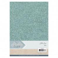 Glitter Papier mint, 5 vel A4