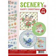 Push Out boek Scenery 4 - Happy Christmas