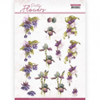3D Knipvel - Precious Marieke - Pretty Flowers - Purple Flowers 11579