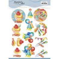 3D Knipvel  Jeanine's Art - Happy Birthday 11596