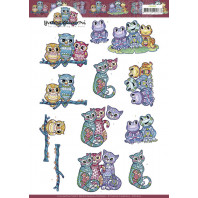 3D Knipvel  Yvonne Creations - Boho Animals 11610