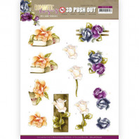 3D Push Out - Precious Marieke - Romantic Roses - Multicolor Rose 10518