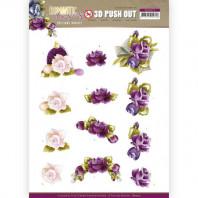 3D Push Out - Precious Marieke - Romantic Roses - Purple Rose 10517