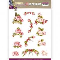 3D Push Out - Precious Marieke - Romantic Roses - Pink Rose 10515