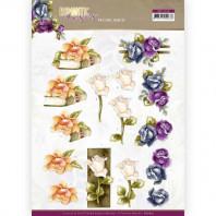 3D Knipvel  Precious Marieke - Romantic Roses - Multicolor Rose