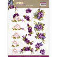 3D Knipvel Precious Marieke - Romantic Roses - Purple Rose