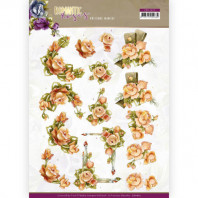 3D Knipvel Precious Marieke - Romantic Roses - Orange Rose