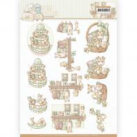 3D Knipvel - Yvonne Creations - Newborn - Baby Basket