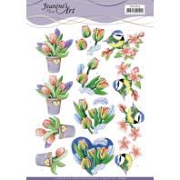 3D Knipvel - Jeanine's Art - Tulips and Blossom 11619