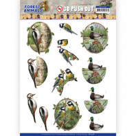 3D Push Out - Amy Design Forest Animals - Woodpecker 10538