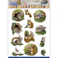 3D Push Out - Amy Design Forest Animals -Rabbit 10537