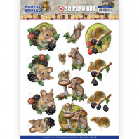 3D Push Out - Amy Design Forest Animals - Mouse 10536