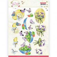 Jeanine's Art - Butterfly Touch - Purple Butterfly