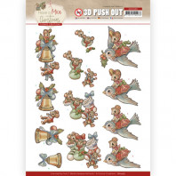 3D Push Out - Yvonne Creations - Have a Mice Christmas - Christmas Socks 10585