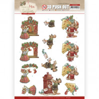 3D Push Out - Yvonne Creations - Have a Mice Christmas - Sending Christmas Cards