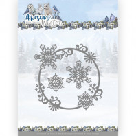Dies - Amy Design - Awesome Winter - Winter Swirl Circle