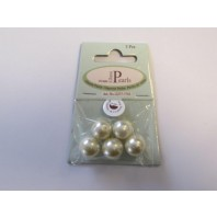 Glass Pearls 14mm beige