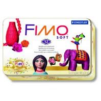 Fimo Soft set Nostalgia metalen box 12 blokjes 8023 51P