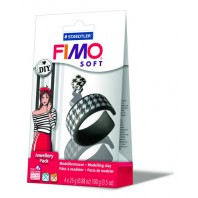 Fimo Soft DIY juwelenset black & white 8025 05