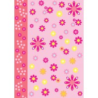 Vellum flower power roze 62548