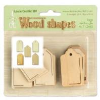 LeCrea - Wood shapes Tags rectangle 71.2465  (08-16)