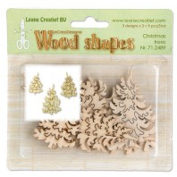 LeCrea - Wood shapes Christmas trees 71.2489  (08-16)