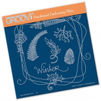 Groovi Plate A5 BARBARA'S ENTWINED WREATH - WINTER 41436