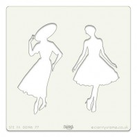 Clarity Art Stencil 7x7 Inch Elegant Ladies