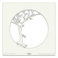 Clarity Art Stencil 7x7 Winter Tree Aperture