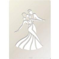 Clarity Art Stencil A5 Ballroom Dancers